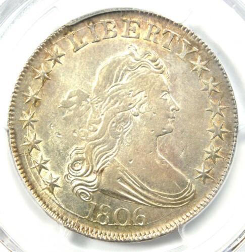 1806 Draped Bust Half Dollar 50C Coin - Certified PCGS AU Details - Rare in AU!