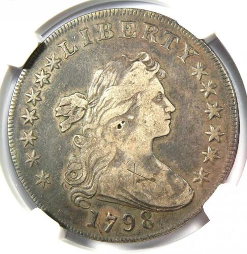 1798 Draped Bust Silver Dollar $1 - Certified NGC VF Details - Rare Coin!