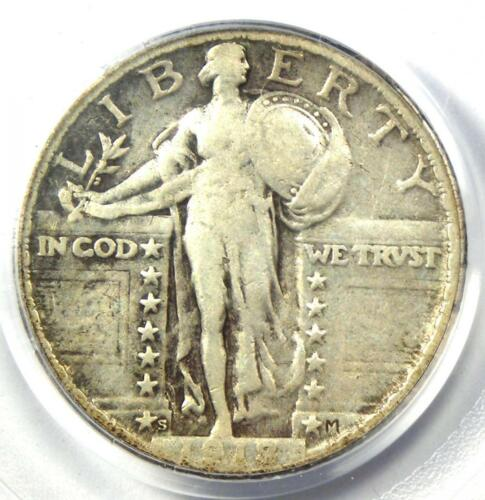 1918/7-S Standing Liberty Quarter 25C Overdate Coin - PCGS VG10 - $2,900 Value