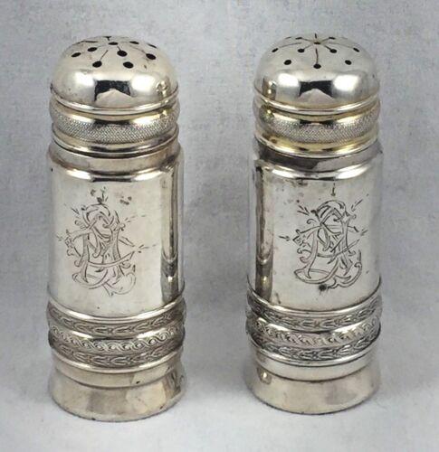 "Wonderful Vintage Gorham Sterling Salt & Pepper Shakers- 3"""