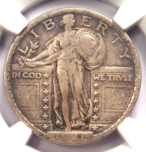 1921 Standing Liberty Quarter 25C - NGC VF Details - Rare Certified Coin!