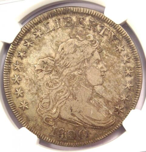 1800 Draped Bust Silver Dollar $1 - Certified NGC Fine Details - Rare Coin!