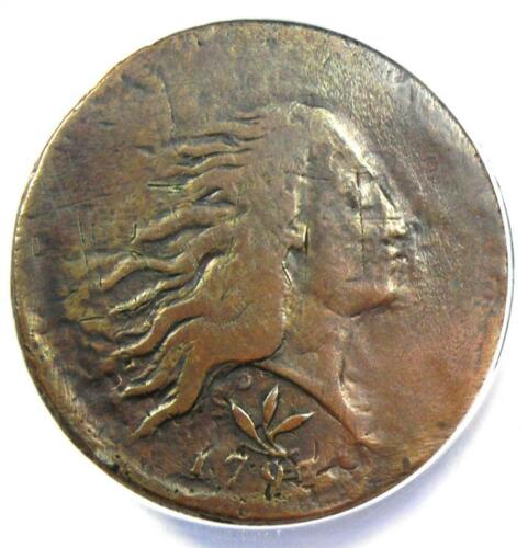 1793 Flowing Hair Wreath Cent 1C S-8 - Certified ANACS VG8 Detail - Rare Coin!