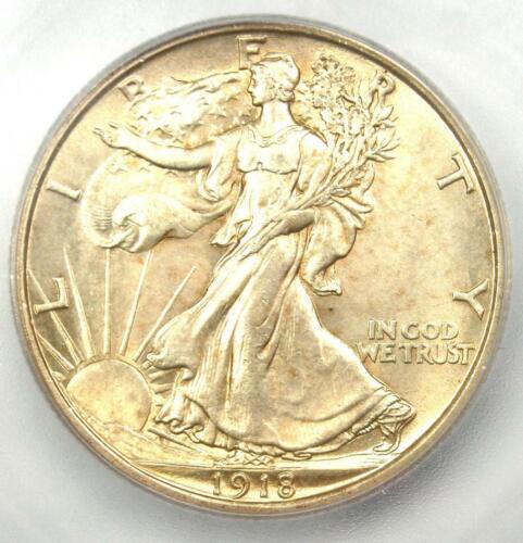 1918 Walking Liberty Half Dollar 50C Coin - Certified ICG MS63 - $1,250 Value!