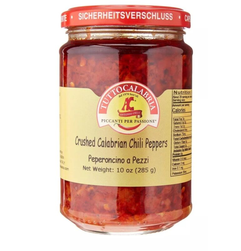 Crushed Calabrian Chili Pepper Paste / Spread 10 OZ TUTTOCALABRIA  Italy Import
