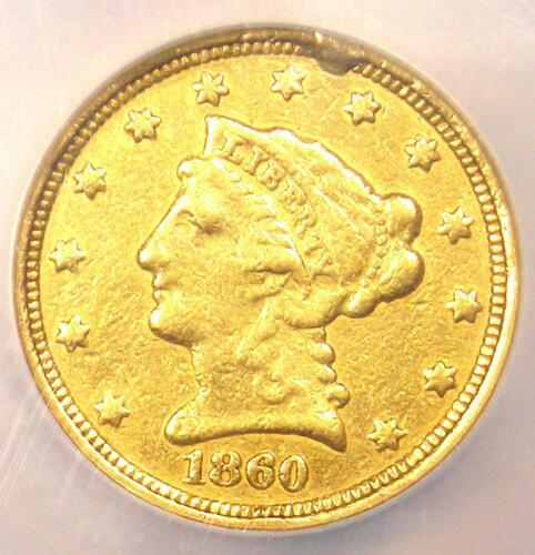 1860-C Liberty Gold Quarter Eagle $2.50 - NGC XF Details - Charlotte Coin!