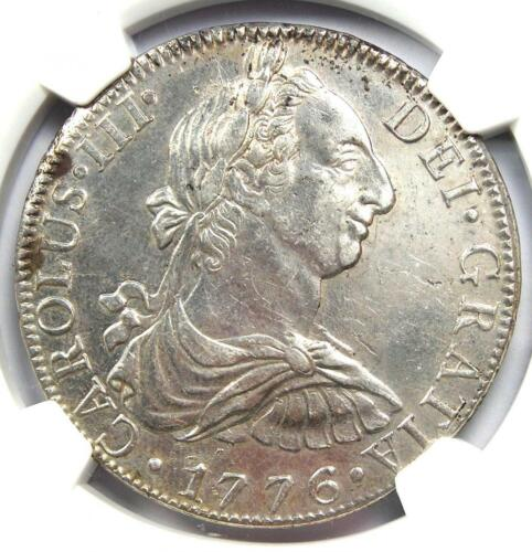 1776-MO FM Mexico Charles III 8 Reales Coin (8R) - Certified NGC AU Details