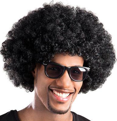 Afro Perücke schwarz 70er 80er Jahre Disco Atze Hippie Karneval Fasching Cosplay