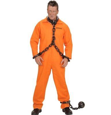 Gefangener County jail Sträfling Gr. M (50) Overall orange Herren Kostüm #5842