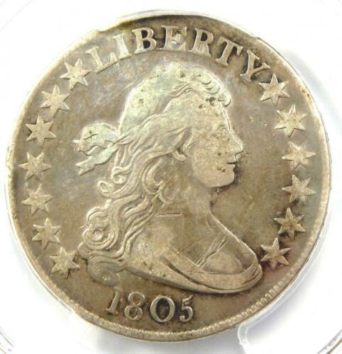 1805 Draped Bust Half Dollar 50C - PCGS VF Details - Rare Certified Coin!
