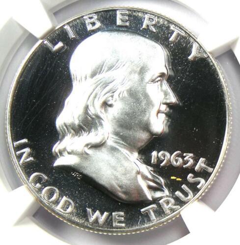 1963 PROOF Franklin Half Dollar 50C Coin - NGC PR69* Star (PF69) - $550+ Value!