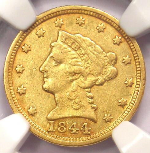 1844-C Liberty Gold Quarter Eagle $2.50 - NGC XF Details - Charlotte Coin!