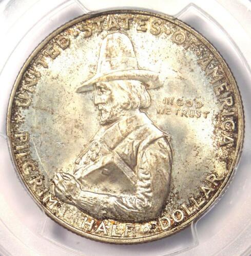 1920 Pilgrim Half Dollar 50C Coin - PCGS MS66+ CAC Plus Grade - $550 Value!