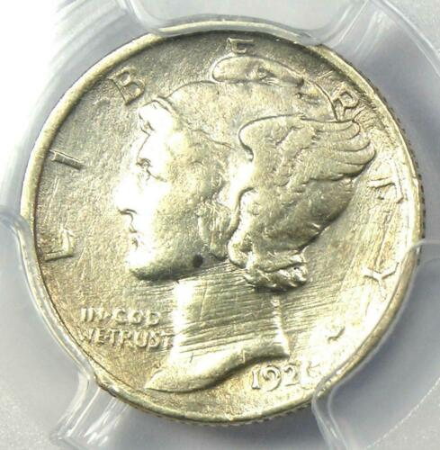 1921 Mercury Dime 10C Coin (1921-P) - Certified PCGS XF Detail (EF) - Rare Date!
