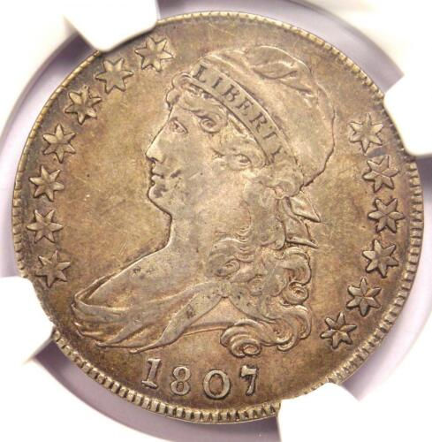 1807 Capped Bust Half Dollar 50C Coin - Certified NGC VF Details - Rare Coin!