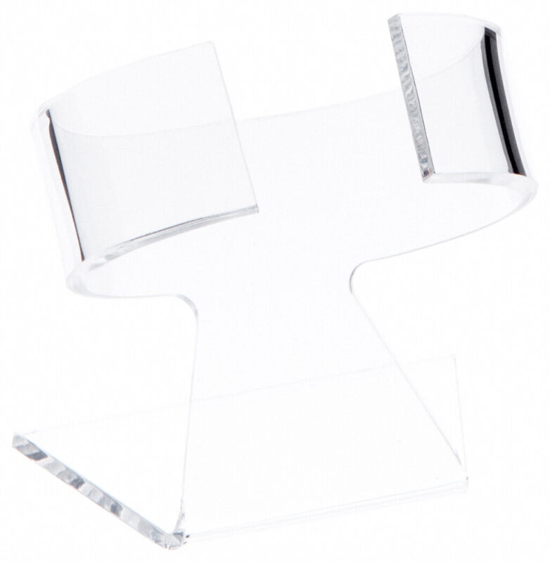 """Plymor Clear Acrylic Watch Display Stand, 2.75"""" W x 2"""" D x 3"""" H (3 Pack)"""