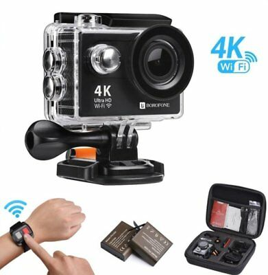 "Action Camera Waterproof 4K WiFi 1080P 12MP Underwater Sports 2.0"" + Accessories"