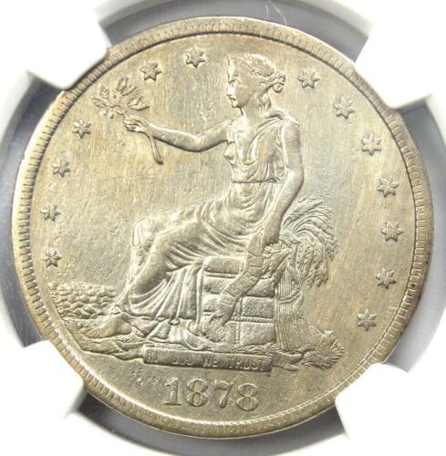 1878-CC Trade Silver Dollar T$1 - NGC XF Details - Rare Carson City Coin!
