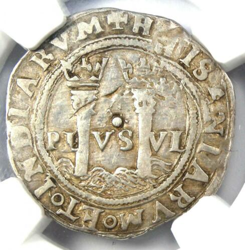 1542-55 Mexico Carlos and Joanna 1 Real Coin 1R - Certified NGC VF20
