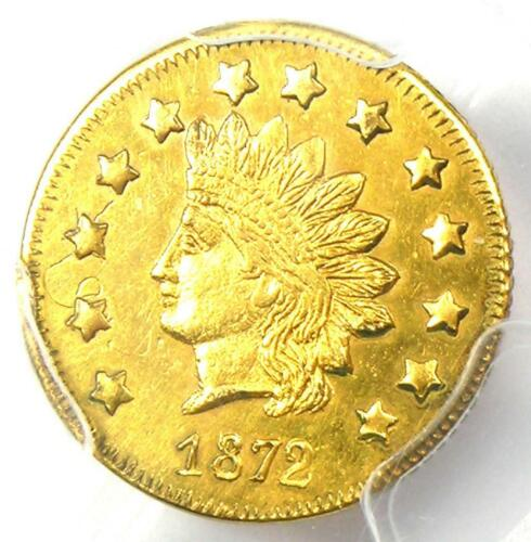 1872 Indian California Gold Dollar Coin G$1 BG-1207 - PCGS UNC Details (MS)