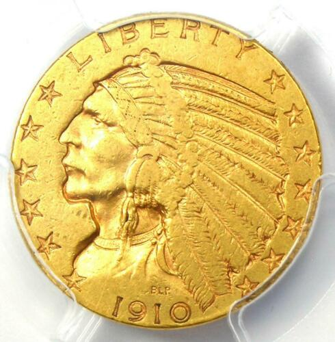 "1910-S Indian Gold Half Eagle $5 Coin - Certified PCGS XF40 - Rare ""S"" Mint!"