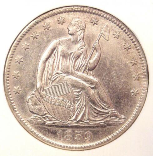 1859-O Seated Liberty Half Dollar 50C - NGC Certified - SS Republic Shipwreck!