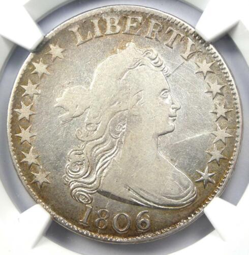 1806/9 Draped Bust Half Dollar (6  over Inverted 6, O-112) - NGC Fine Details