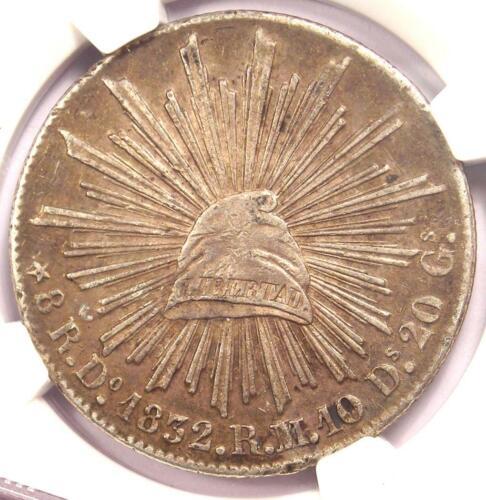 1832-DO RM/L Mexico Republic 8 Reales Coin (8R) with European Dies - NGC AU53