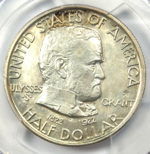 1922 Grant STAR Half Dollar 50C Coin - PCGS Uncirculated Details (UNC MS)!