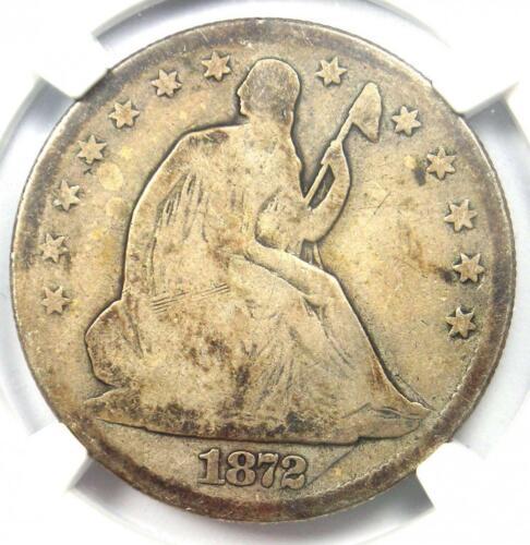 1872-CC Seated Liberty Half Dollar 50C Carson City Coin. Certified NGC G4 (Good)