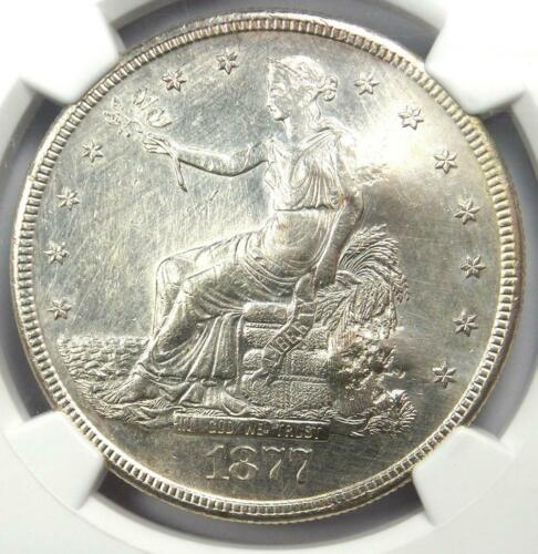 1877-S Trade Dollar T$1 (Micro S) - NGC Uncirculated with Chop Marks (UNC MS)!