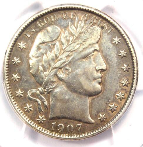 1907-O Barber Half Dollar 50C - PCGS AU Details - Rare Date - Certified Coin1