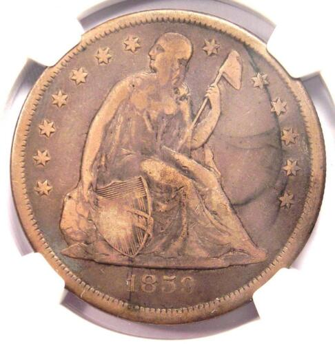 1859-O Seated Liberty Silver Dollar $1 - Certified NGC Fine Details - Rare Coin!