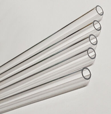 """2 PK Clear Extruded Acrylic Round Tube 1/"""" OD x 3//4/""""ID x 36/"""" Long Nominal"""