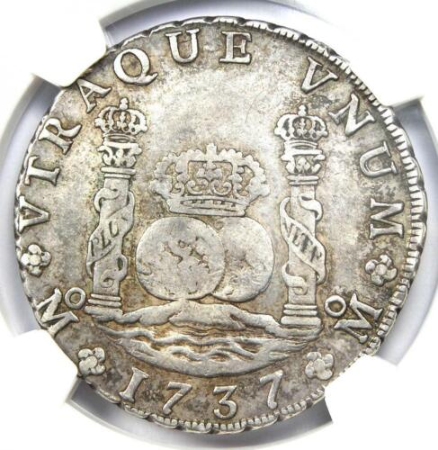 1737-MO MF Mexico Pillar Dollar 8 Reales Coin (8R) - Certified NGC VF30