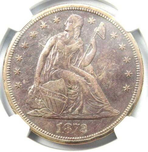 1872-S Seated Liberty Silver Dollar $1 Coin - NGC AU Details - Rare S Mint !