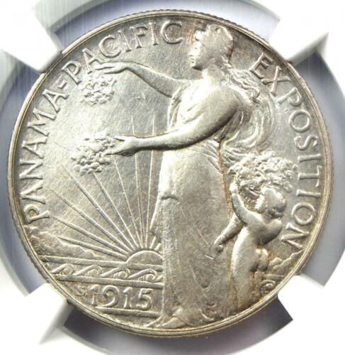 1915-S Panama Pacific Half Dollar Coin 50C - Certified NGC XF Details (EF)