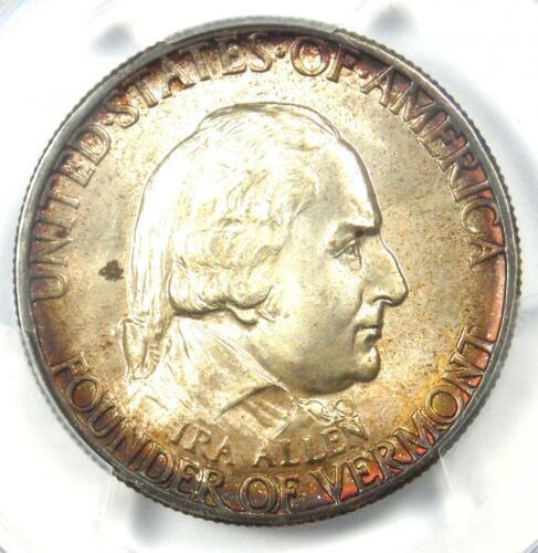 1927 Vermont Half Dollar 50C - Certified PCGS MS67 - Rare in MS67 - $3,200 Value