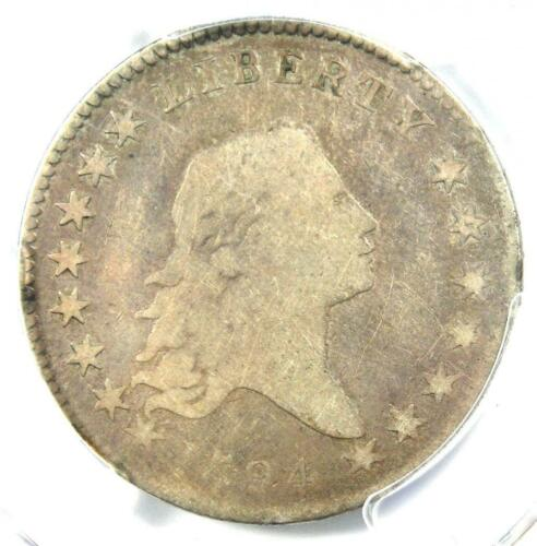 1794 Flowing Hair Bust Half Dollar 50C - Certified PCGS VG Detail - Rare Coin!