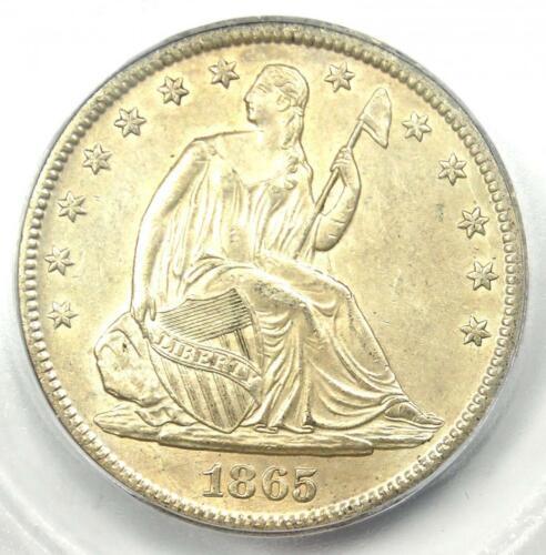 1865-S Seated Liberty Half Dollar 50C - Certified ICG MS63 (BU) - $3,750 Value!