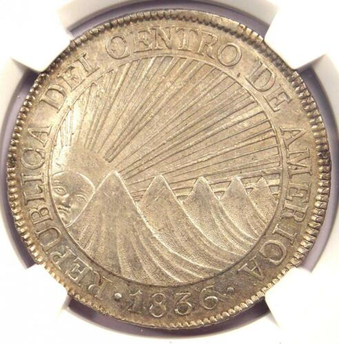 1836-NG BA Central American Republic 8 Reales (8R Coin) - Certified NGC AU58!