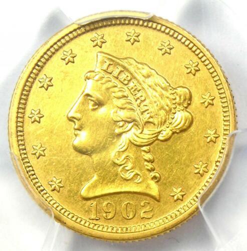 1902 Liberty Gold Quarter Eagle $2.50 Coin - Certified PCGS AU Details