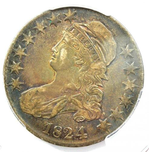 1824/4 Capped Bust Half Dollar 50C - PCGS VF Details - Rare Variety Coin!
