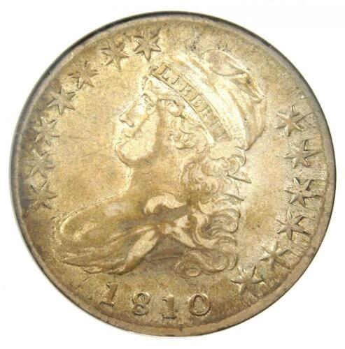1810 Capped Bust Half Dollar 50C - ANACS XF45 (EF45) PQ - Rare Certified Coin