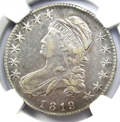 1819 Bust Half Dollar 50C - Certified NGC XF Details (EF) - Rare Date Coin!