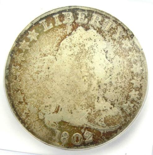 1802 Draped Bust Silver Dollar $1 Coin - Certified ICG AG3 Details - Rare Date!