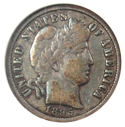 1895-O Barber Dime 10C Key Date Coin - Certified ANACS VF20 - $1,420 Value!