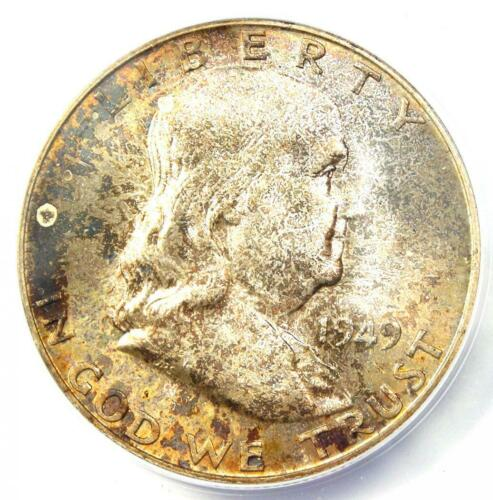 1949-S Franklin Half Dollar 50C - Certified ANACS MS66 - $273 Value!