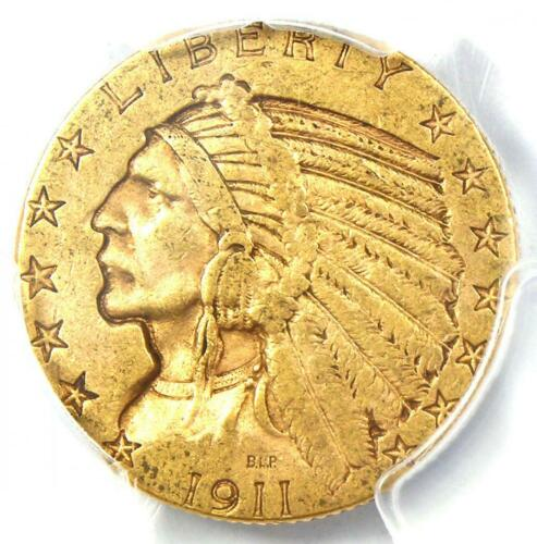 "1911-S Indian Gold Half Eagle $5 Coin - Certified PCGS VF35 - Rare ""S"" Mint!"