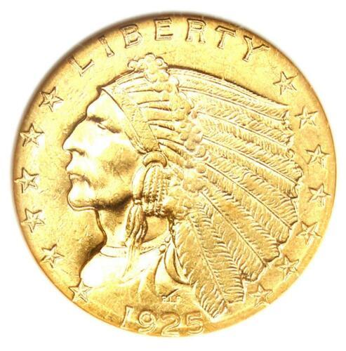 1925-D Indian Gold Quarter Eagle $2.50 Coin - ANACS AU58 Details - Rare Coin!